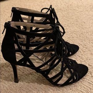 Nine West black Ghillie Sandal, size 7